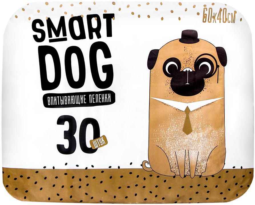 Пеленки впитывающие для собак Smart Dog 60 х 40 см (10 шт)