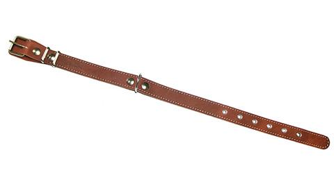 Ошейник для собак кожаный коньячный 40 - 54 см x 25 мм Аркон (1 шт) фото
