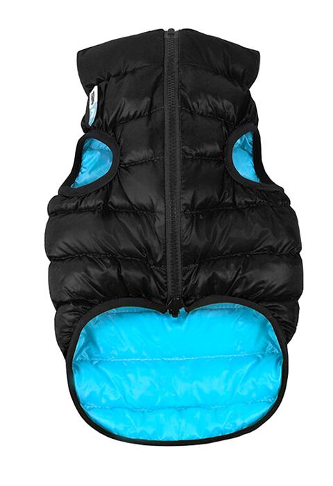 Куртка для собак Collar AiryVest двусторонняя черно-голубая (m47)