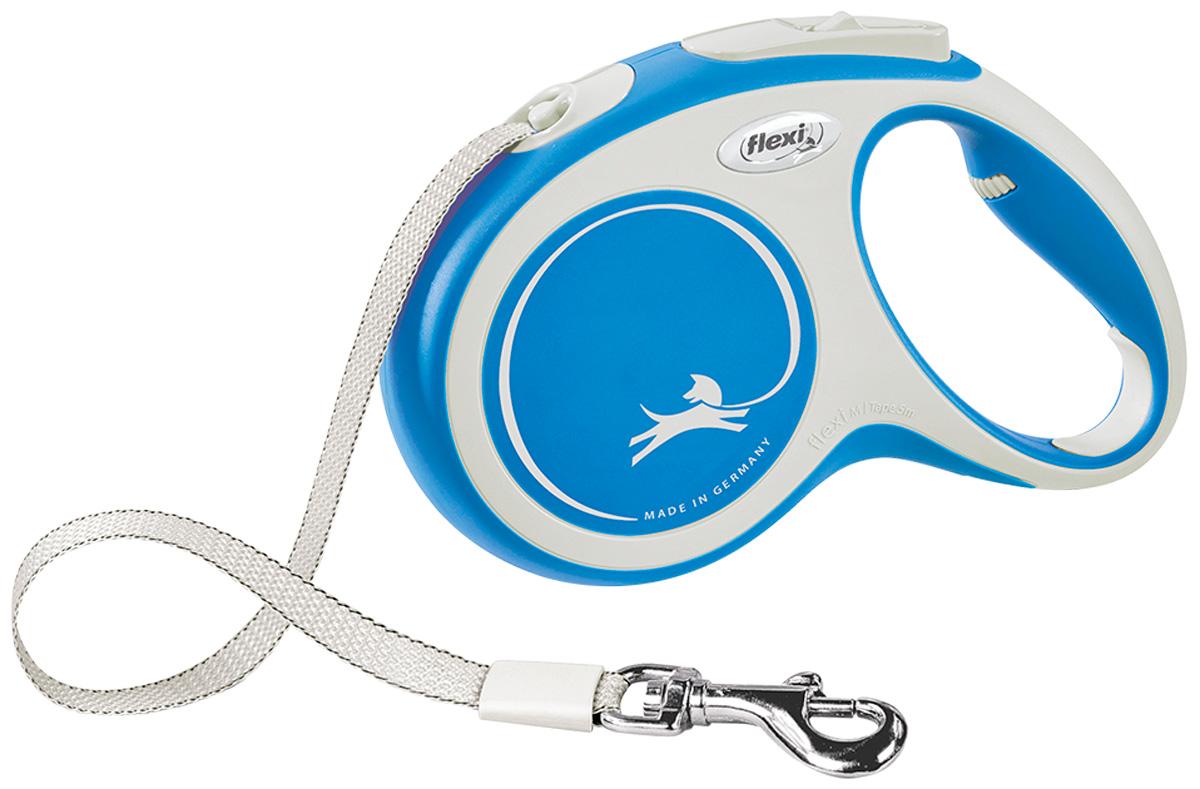 Фото - Flexi New Comfort Tape ременной поводок рулетка для животных 5 м размер M синий (1 шт) flexi new comfort tape ременной поводок рулетка для животных 5 м размер s синий 1 шт