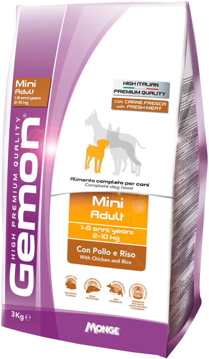 Gemon Dog Adult Mini для взрослых собак маленьких пород с курицей и рисом (1 кг) фото