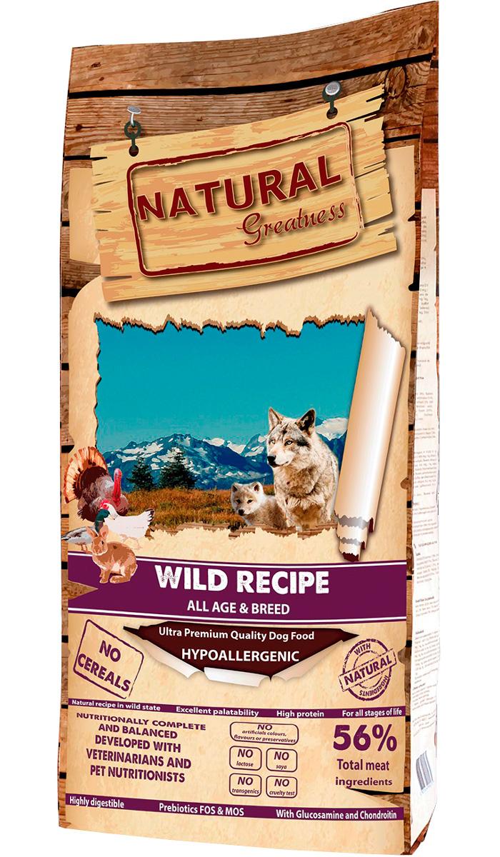 Natural Greatness Wild Recipe беззерновой для собак и щенков всех пород с уткой, индейкой и кроликом (2 кг) natural greatness turkey recipe беззерновой для взрослых собак всех пород с чувствительным пищеварением с индейкой 2 кг