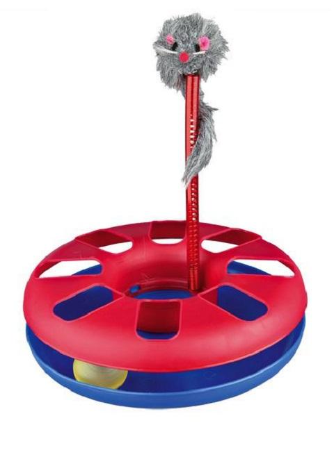Игрушка для кошек Trixie Трек с мышкой (1 шт) игрушка