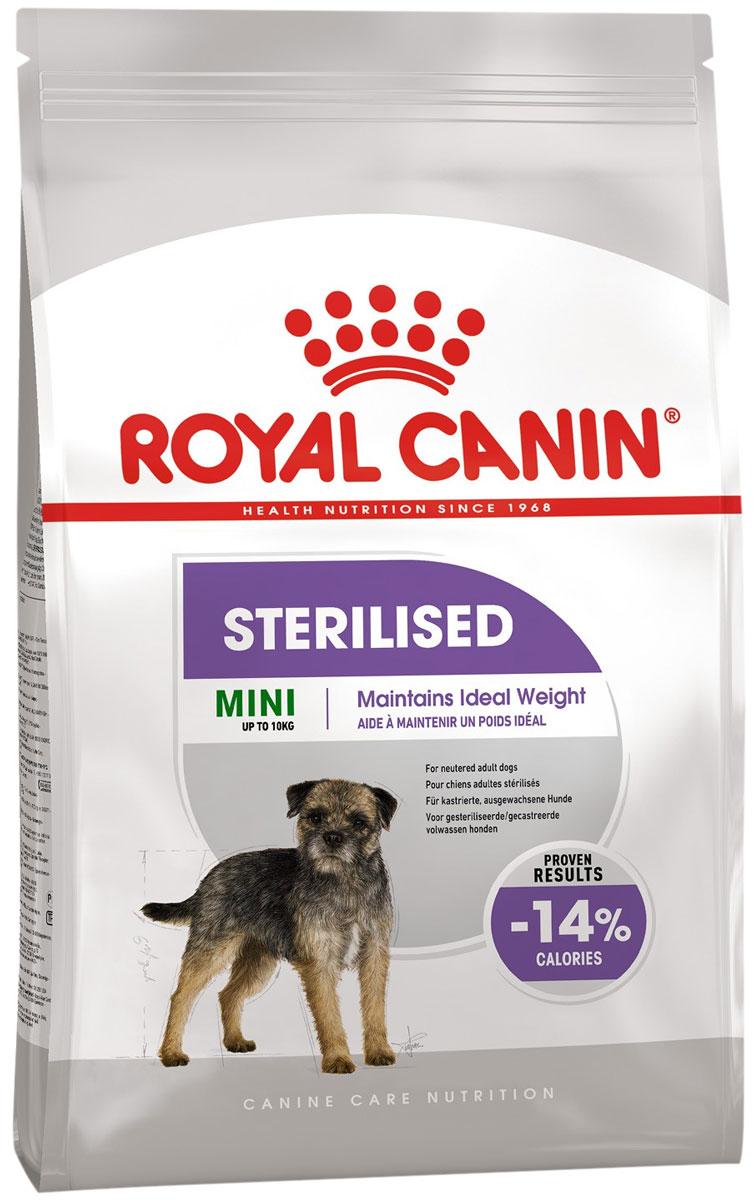 Royal Canin Mini Sterilised Adult Сухой корм для кастрированных и стерилизованных взрослых собак маленьких пород (3 + 3 кг)