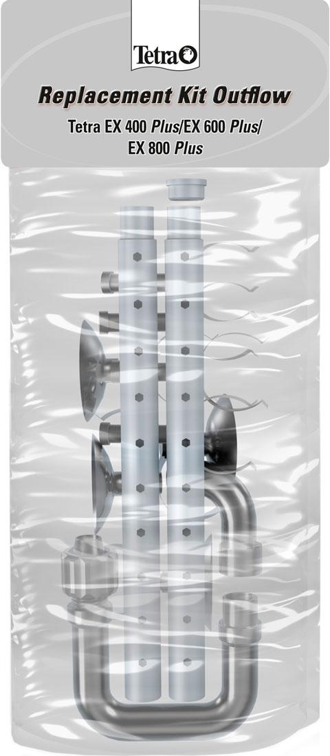 Набор трубок и зажимов для выпуска воды для внешних фильтров Tetratec ех 600/700 (1 шт) набор резиновых уплотнителей для внешних фильтров ferplast bluextreme 700 1100 1 шт