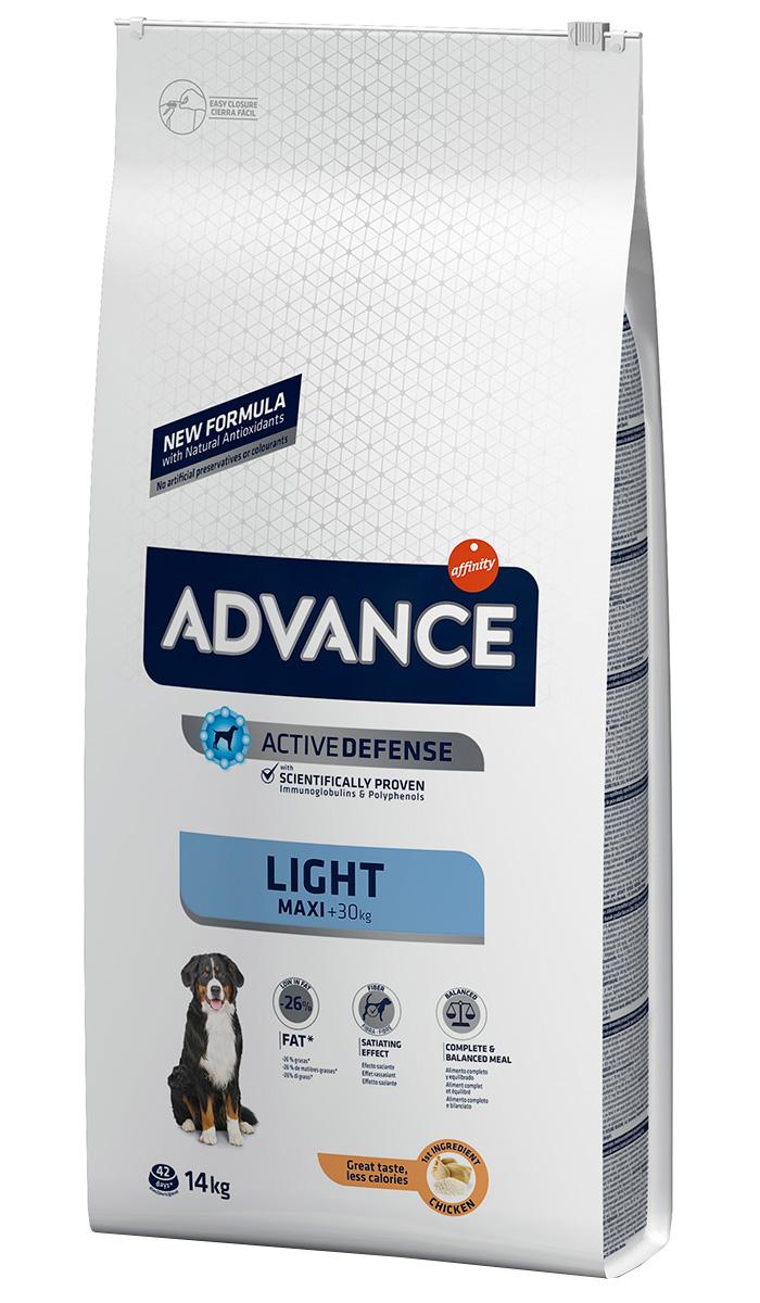 Advance Adult Maxi Light Chicken & Rice Контроль веса диетический для взрослых собак крупных пород с курицей и рисом (14 кг)