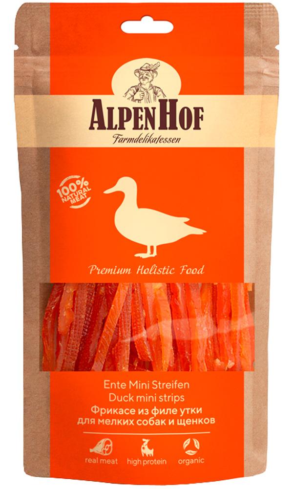 Лакомство AlpenHof для собак маленьких пород и щенков фрикасе с уткой 50 гр (1 уп)