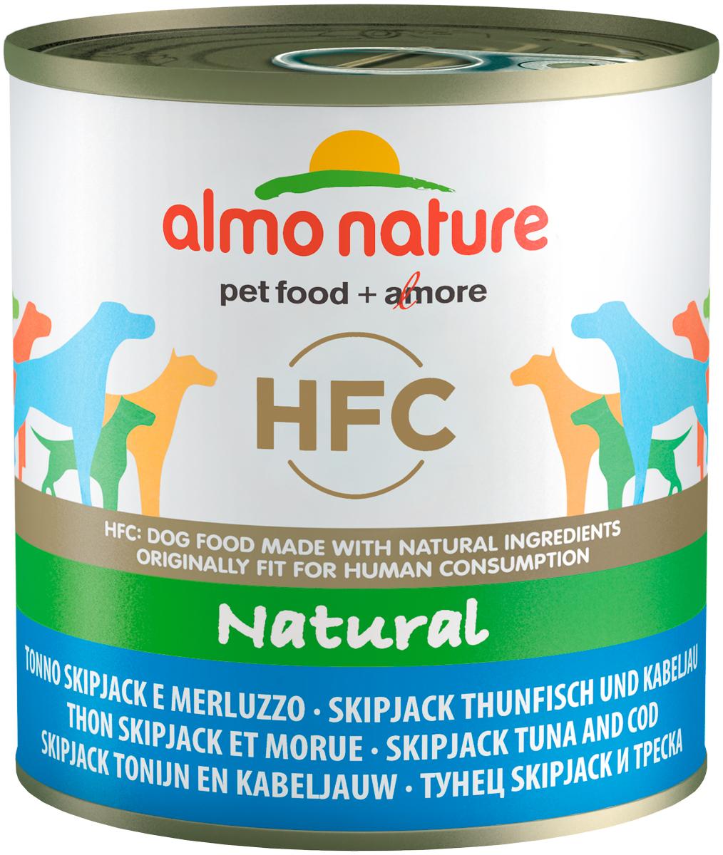 Almo Nature Dog Classic Hfc для взрослых собак с полосатым тунцом и треской (290 гр).