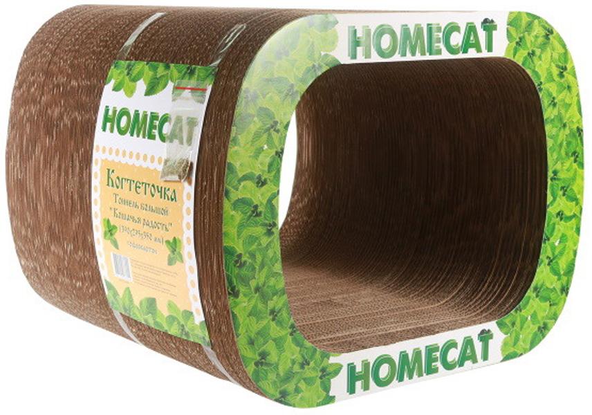 Homecat когтеточка тоннель картонная Кошачья радость большая 39х29,5х35 см (1 шт)