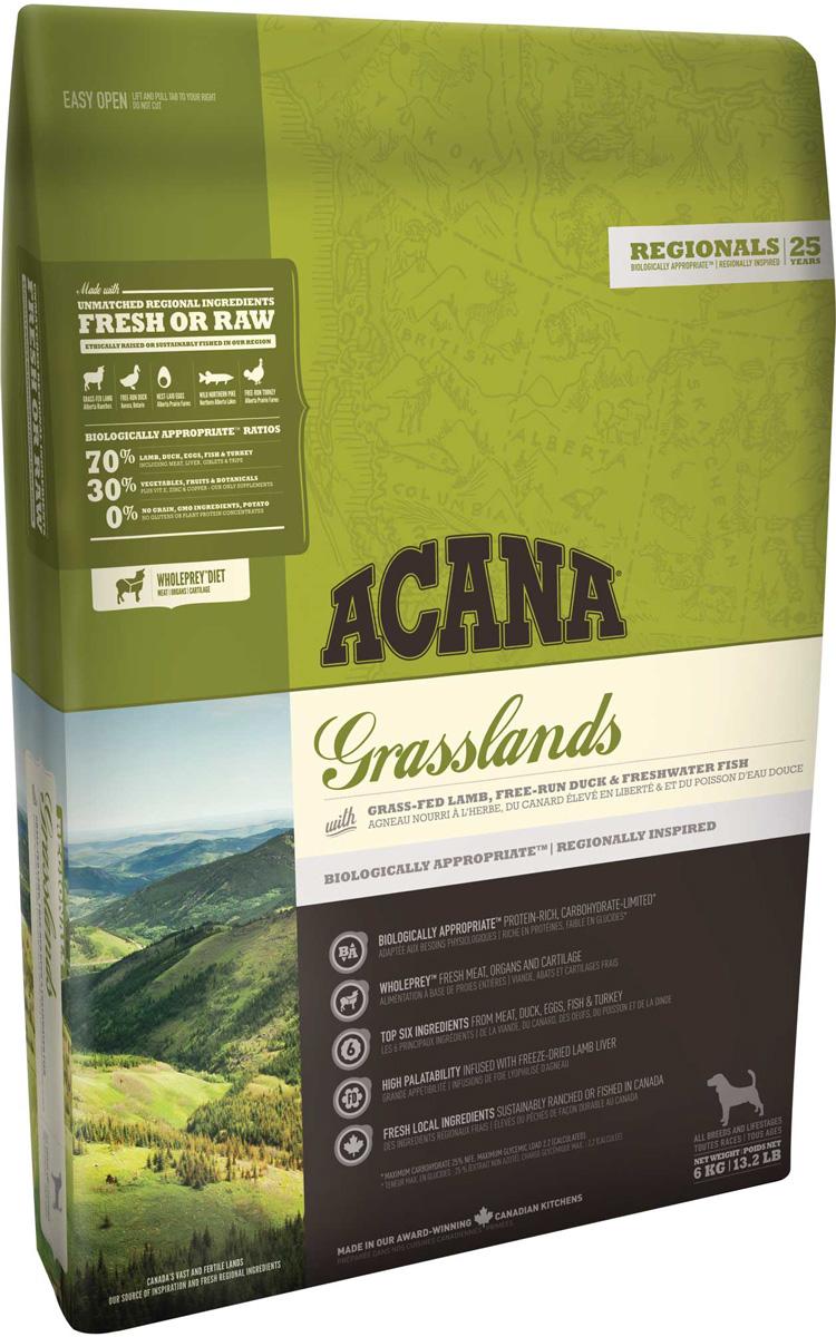Acana Regionals Grasslands Dog беззерновой для собак и щенков всех пород с ягненком (2 кг)