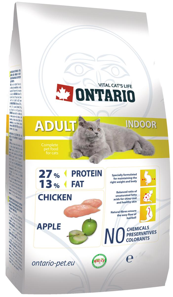 Ontario Cat Adult Indoor Chicken для взрослых кошек живущих дома с курицей (0,4 кг)