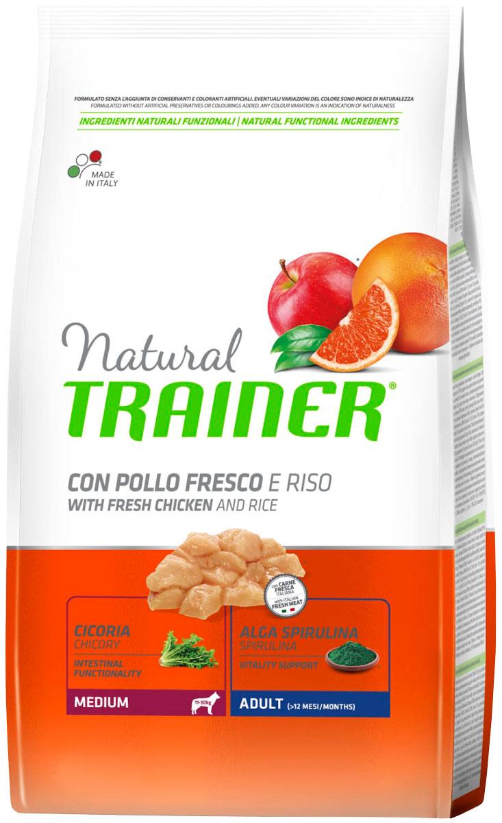 Trainer Natural Medium Adult Chicken & Rice для взрослых собак средних пород с курицей и рисом (12 кг)