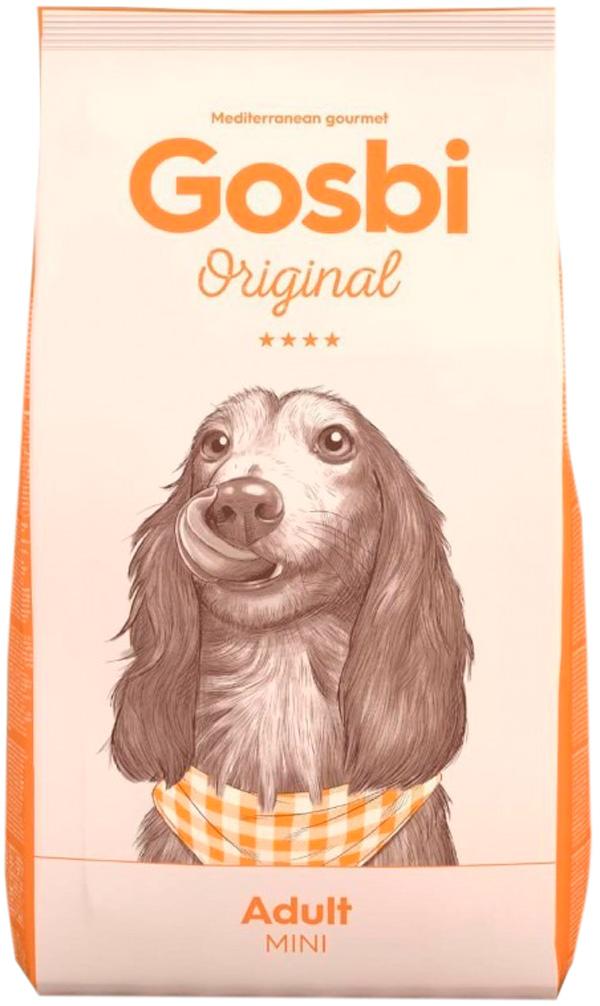 Фото - Gosbi Original Dog Adult Mini для взрослых собак маленьких пород с курицей (3 кг) gosbi лакомство gosbits для взрослых собак с курицей 300 г
