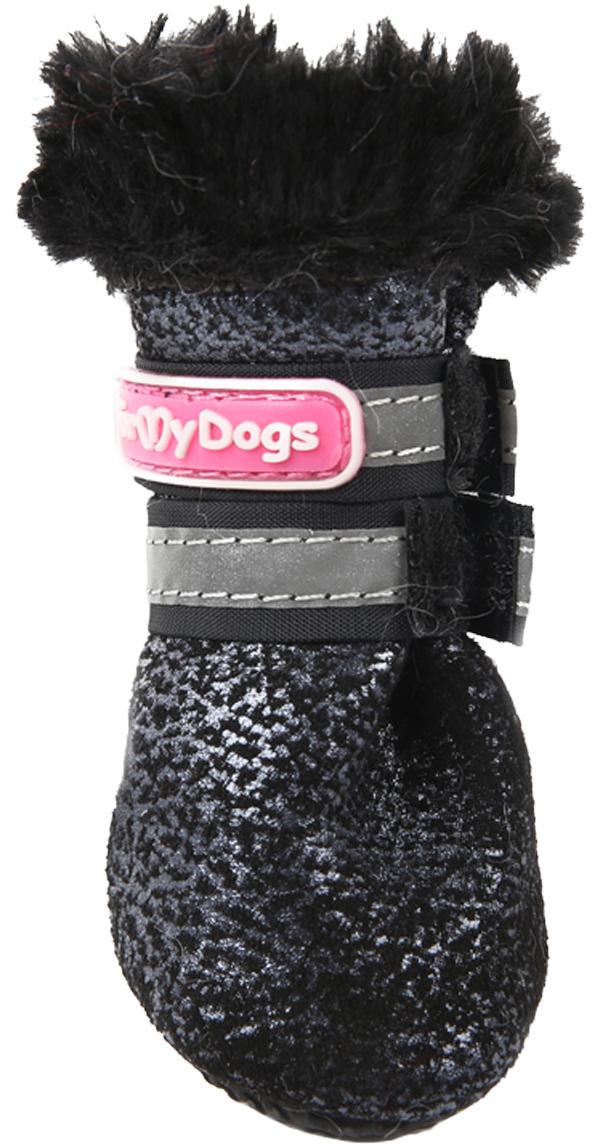 For My Dogs сапоги для собак зимние черные Fmd648-2019 Bl (1) фото
