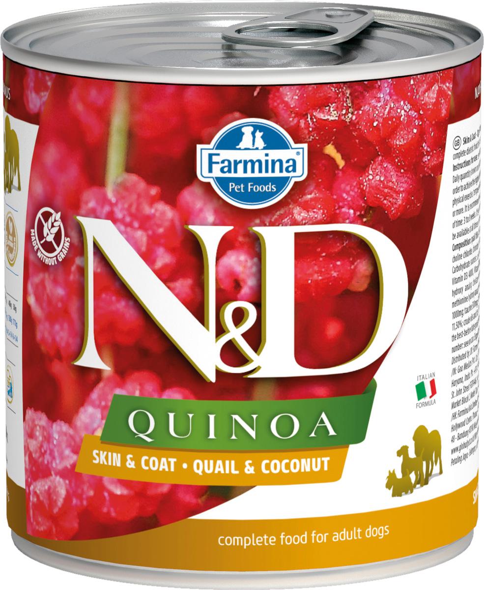 Farmina Dog N&d Quinoa Adult Quail & Coconut беззерновые для взрослых собак всех пород с перепелом, кокосом и киноа 285 гр (285 гр) фото