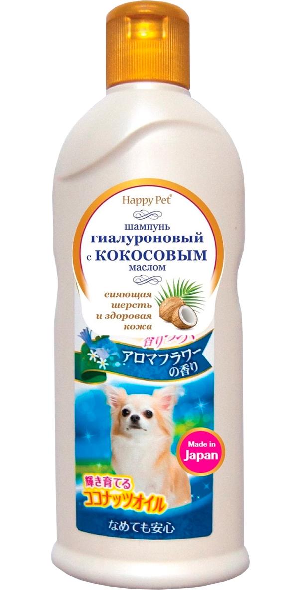 Шампунь для собак Premium Pet Japan с кокосовым маслом и гиалуроном для сияющей шерсти с цветочным ароматом 350 мл (1 шт)