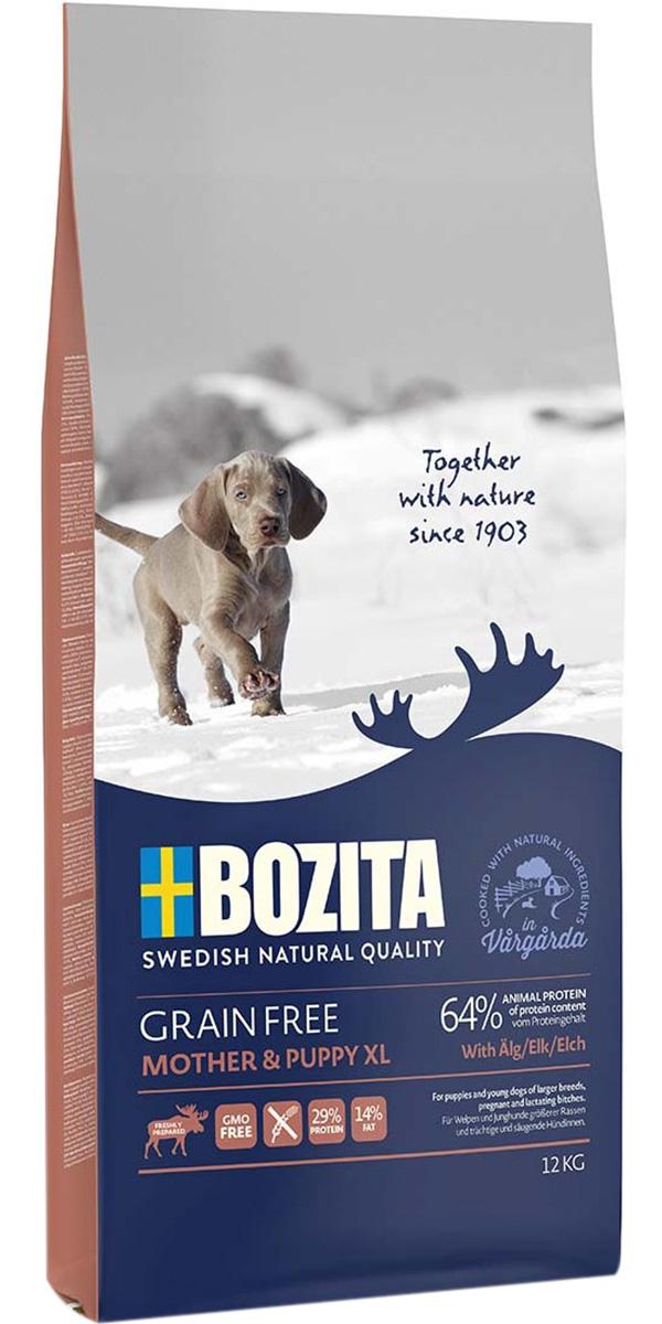 Bozita Grain Free Mother & Puppy Xl Elk беззерновой для щенков крупных пород, беременных и кормящих сук с лосем (12 кг)