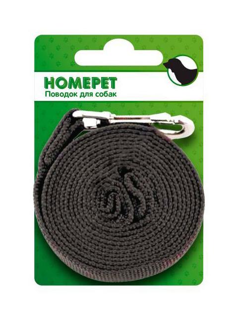 Фото - Поводок брезентовый для собак 25 мм 5 м Homepet (1 шт) поводок для собак homepet простроченный 52108 черный 1 2 м 8 мм