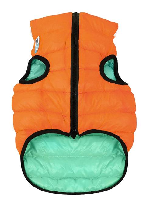 Куртка для собак Collar AiryVest Lumi двусторонняя светящаяся оранжево-салатовая (l65)