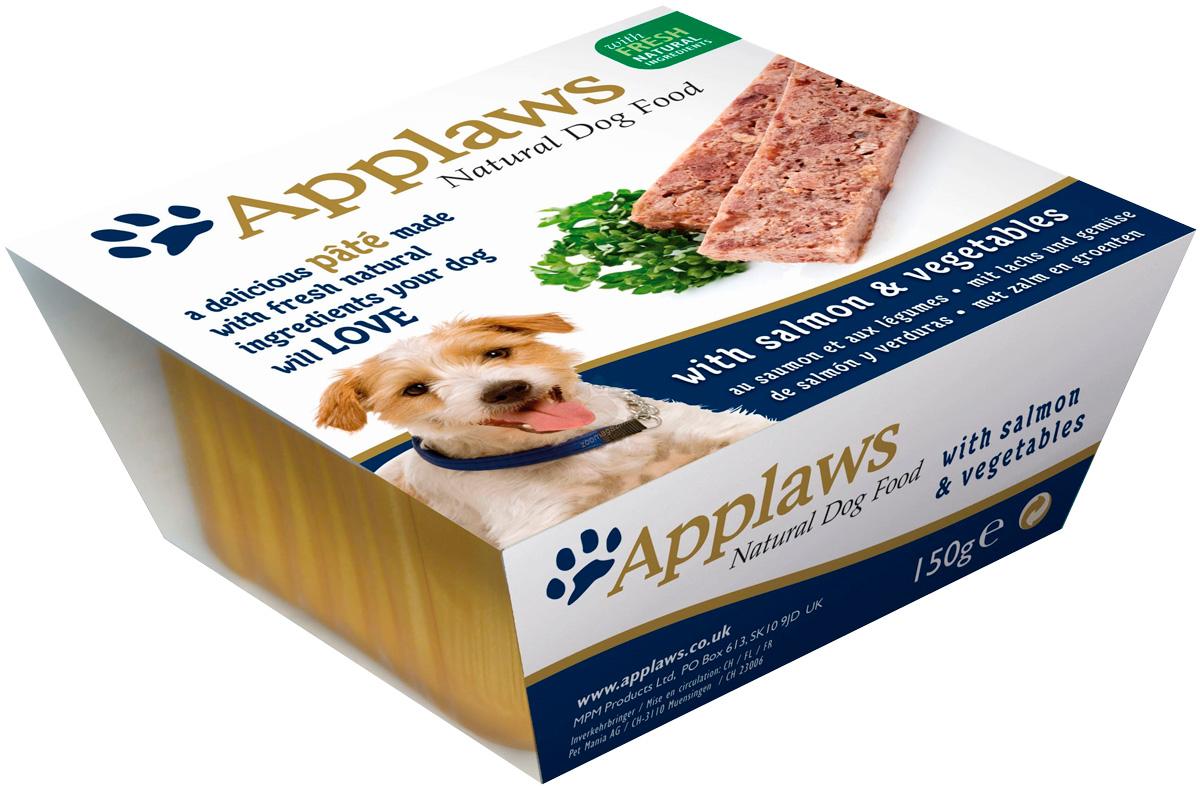Applaws для взрослых собак паштет с лососем и овощами 150 гр (150 гр х 7 шт)