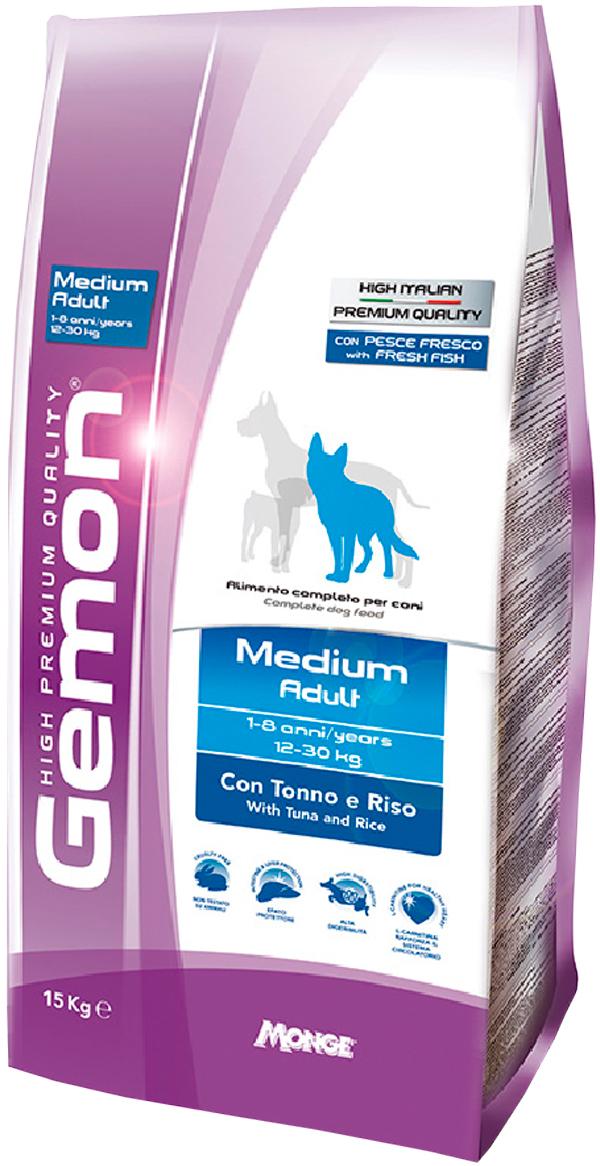 Gemon Dog Adult Medium для взрослых собак средних пород с тунцом и рисом (3 кг) фото