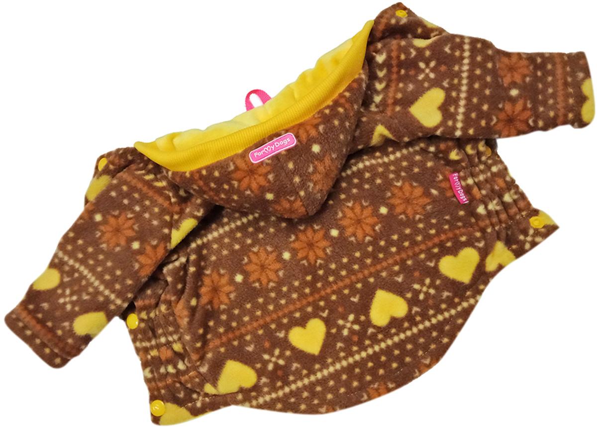 For My Dogs куртка для собак коричневая флис Fw812-2019 Br (22)