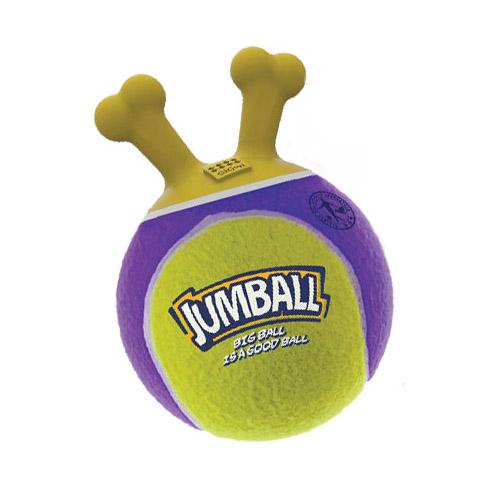 Игрушка для собак Джамболл теннис мяч с захватом 18 см GiGwi Jumball (1 шт)