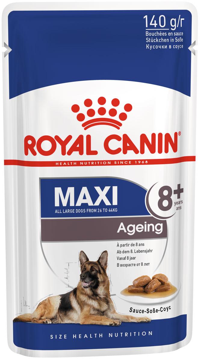Royal Canin Maxi Ageing 8+ для пожилых собак крупных пород старше 8 лет в соусе 140 гр (8 + 2 шт)
