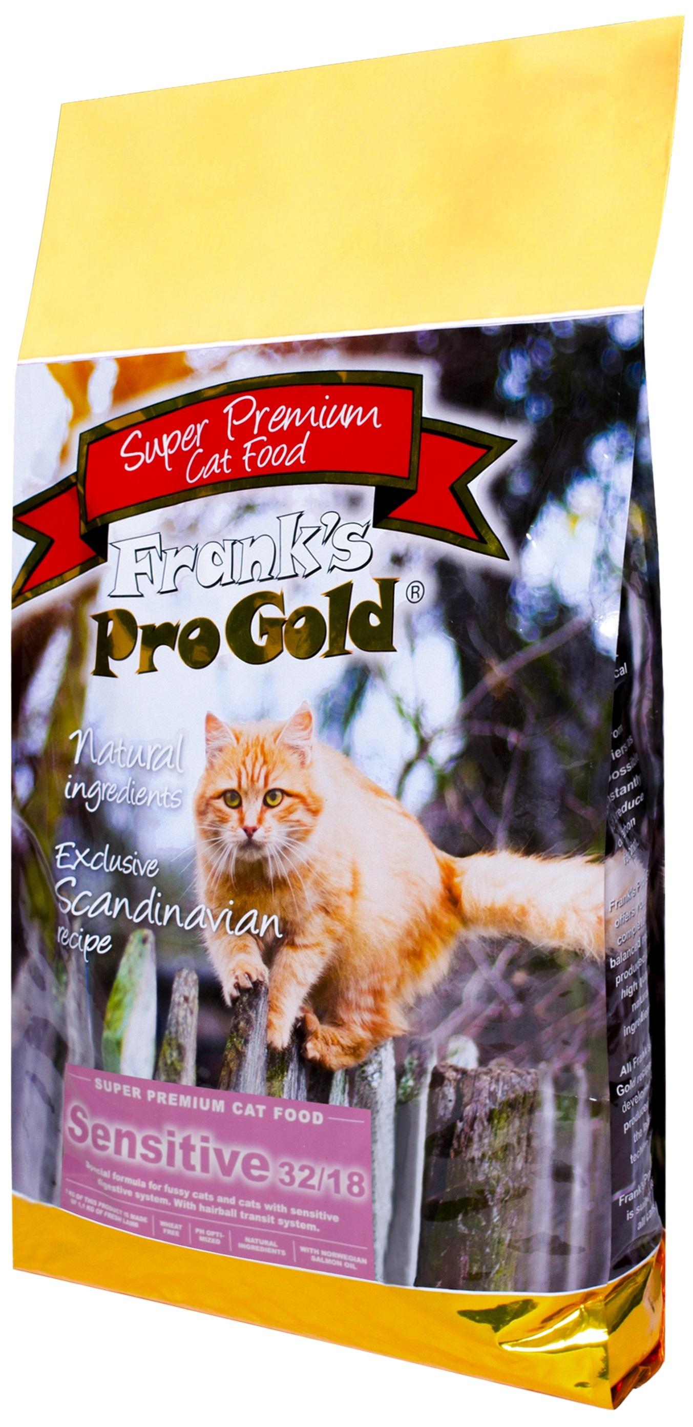 Frank's Progold Cat Adult Sensitive для взрослых кошек с чувствительным пищеварением с ягненком по-голландски (7,5 кг)