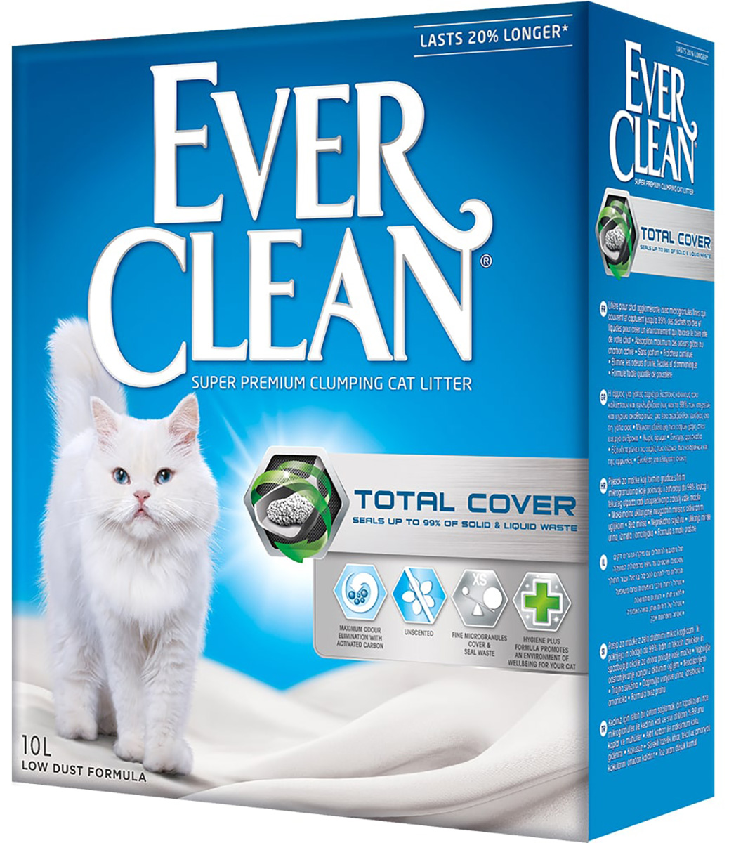 Ever Clean Total Cover наполнитель комкующийся для туалета кошек с микрогранулами двойного действия (10 л)