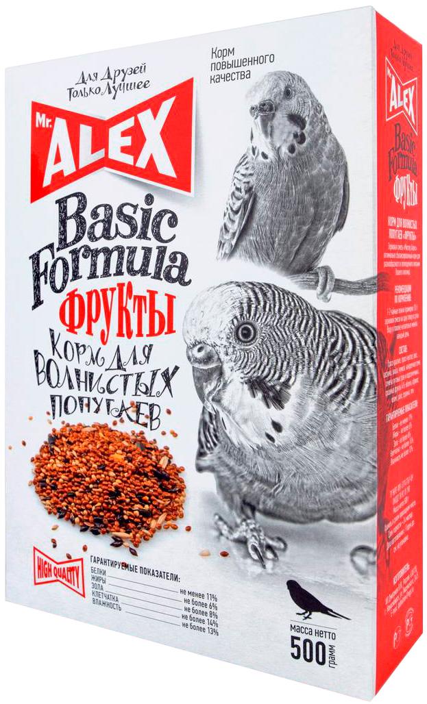 Mr.alex вasic Фрукты корм для волнистых попугаев (500 гр)