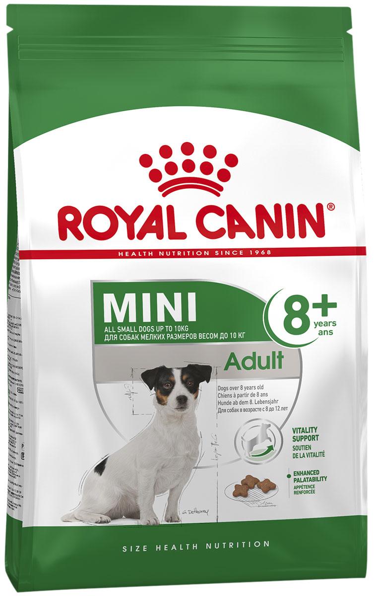 Купить со скидкой Royal Canin Mini Adult 8+ для пожилых собак маленьких пород старше 8 лет (2 + 2 кг)