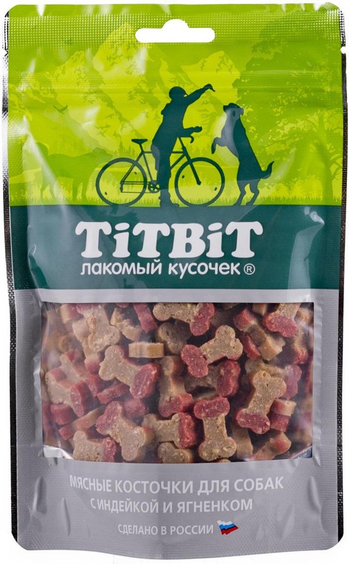 Лакомство Tit Bit для собак косточки мясные с индейкой и ягненком (145 гр)