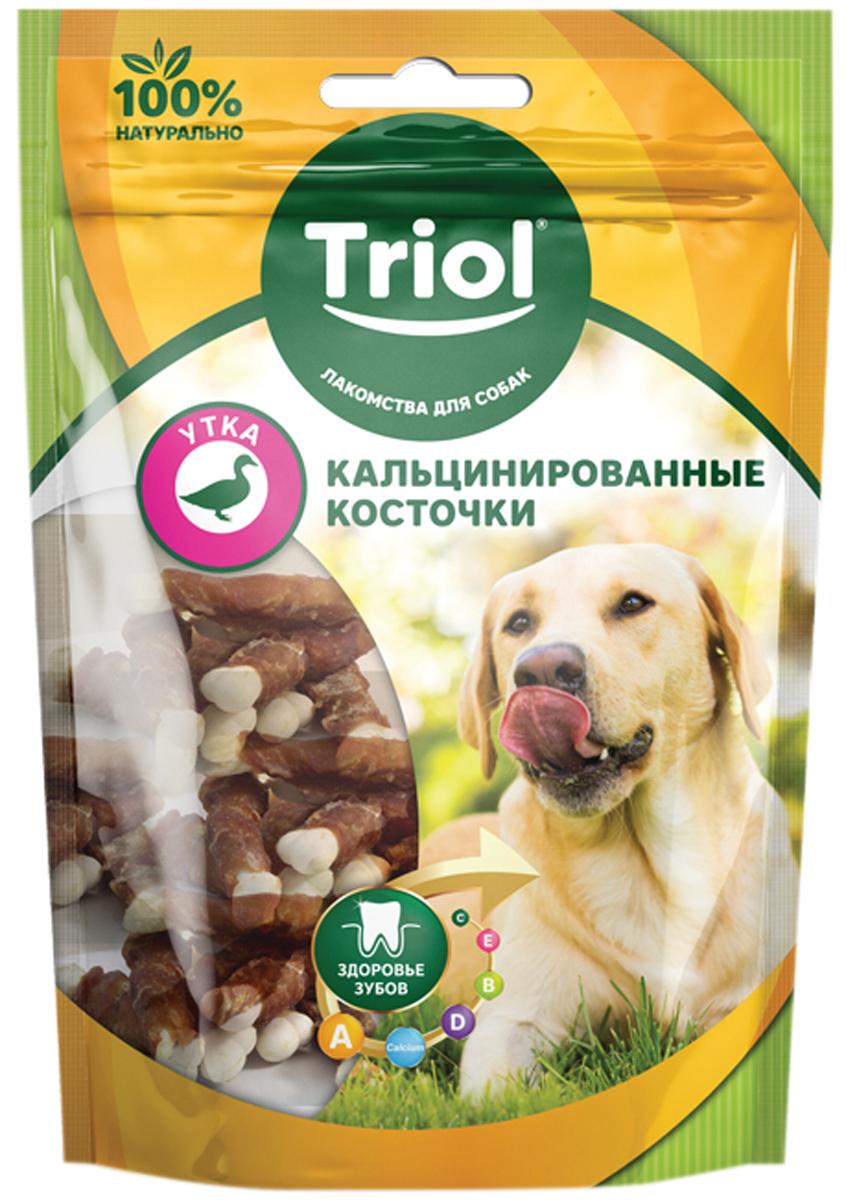 Лакомство Triol для собак косточки кальцинированные с уткой 70 гр (1 шт)