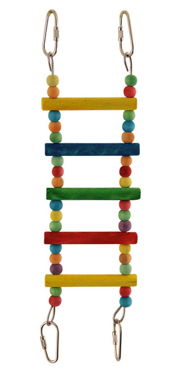 Игрушка для птиц Triol Лестница малая с бусинами 28 см (28 см) игрушка для птиц triol br43 ромашки 19 см