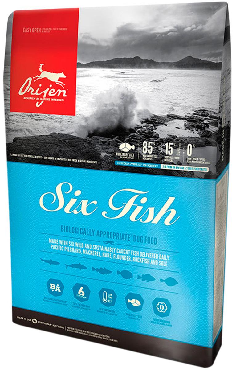 Orijen Dog 6 Fish 85/15 для собак и щенков всех пород с рыбой (2 кг).