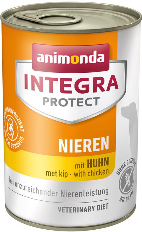 Animonda Integra Protect Dog Nieren Renal для взрослых собак при хронической почечной недостаточности с курицей 400 гр (400 гр х 6 шт)