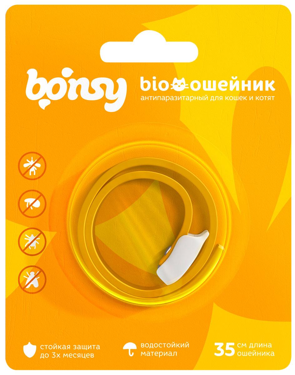 Bonsy BIOошейник Банановое чудо для кошек и котят против клещей, блох, вшей, власоедов 35 см (1 шт)