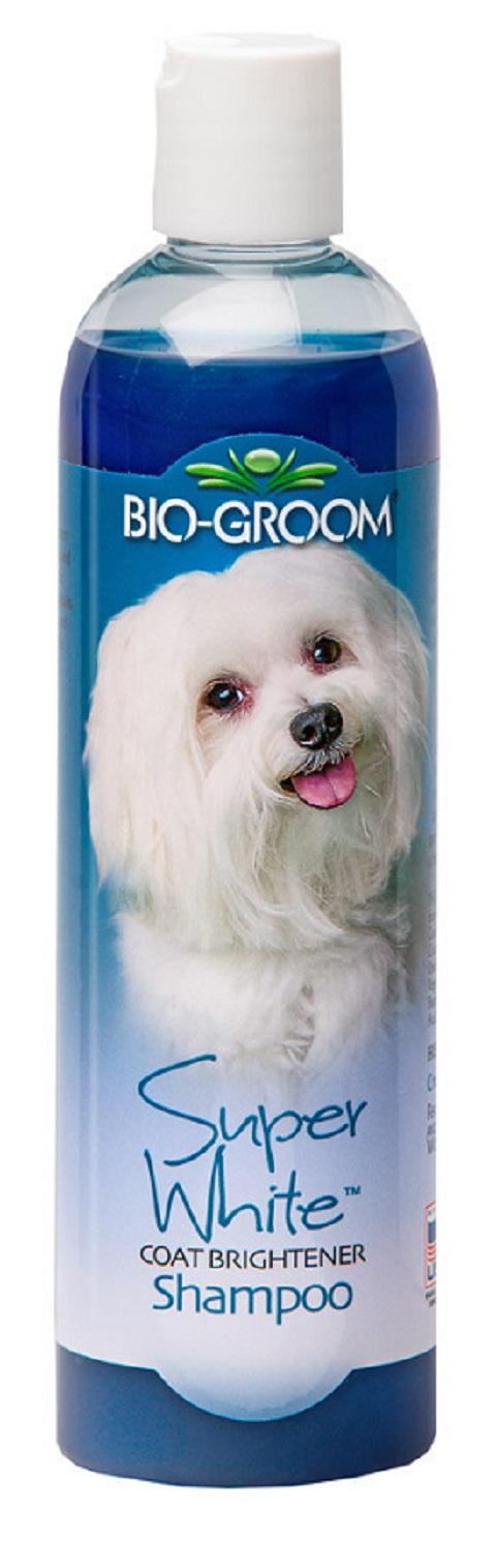 Bio-groom Super White Shampoo – Био-грум шампунь для собак с белой и светлой шерстью (355 мл)