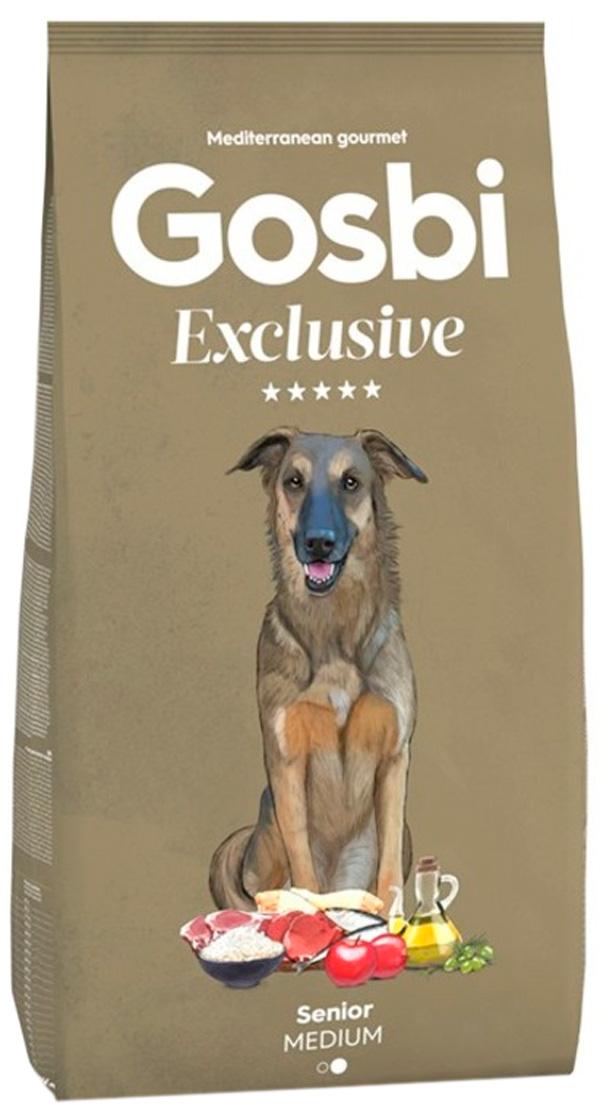 Gosbi Exclusive Senior Medium для пожилых собак средних и крупных пород с курицей (12 кг)