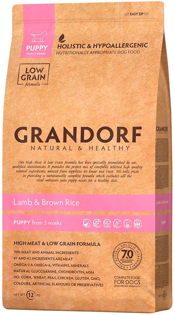 Фото - Grandorf Puppy All Breeds Lamb & Rice для щенков всех пород, беременных и кормящих сук низкозерновой с ягненком и рисом (1 кг) сорочка ночная для беременных и кормящих 40 недель цвет желтый 180178 размер 46