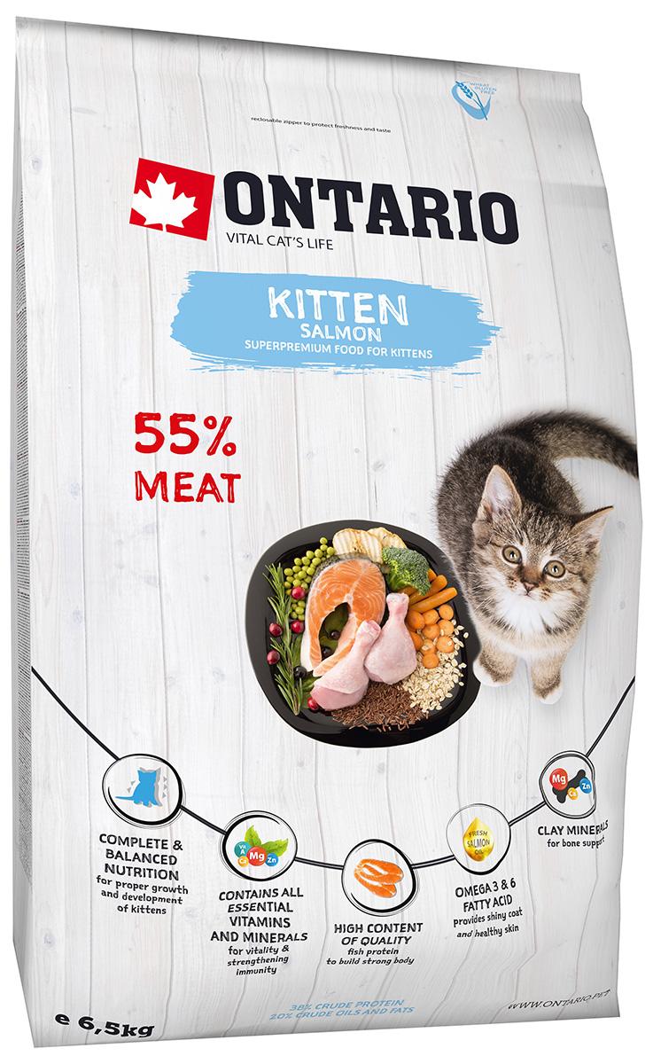 Ontario Kitten Salmon низкозерновой для котят с лососем (0,4 кг)