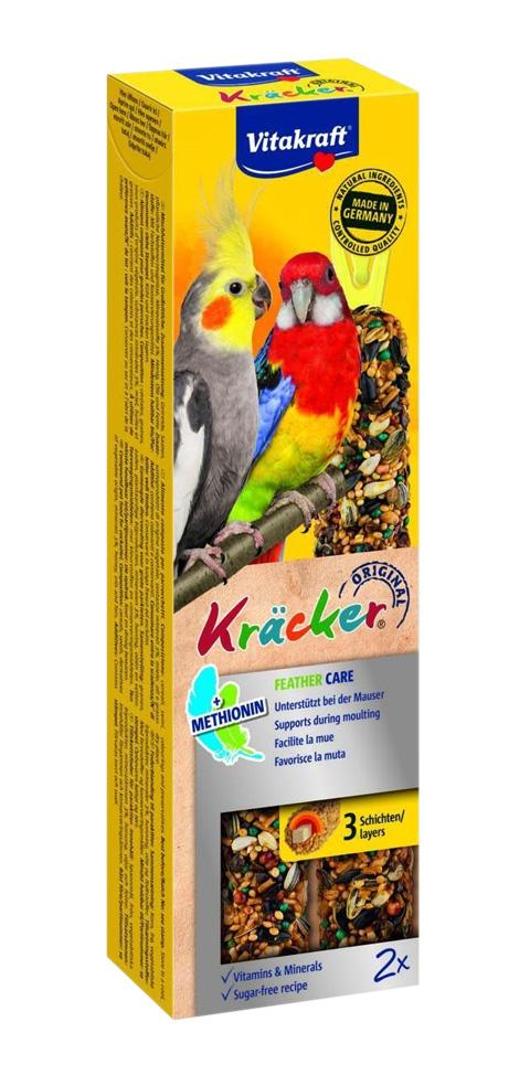 Vitakraft Kraсker Mauser Mue-rui крекеры для средних и крупных попугаев в период линьки (2 шт).