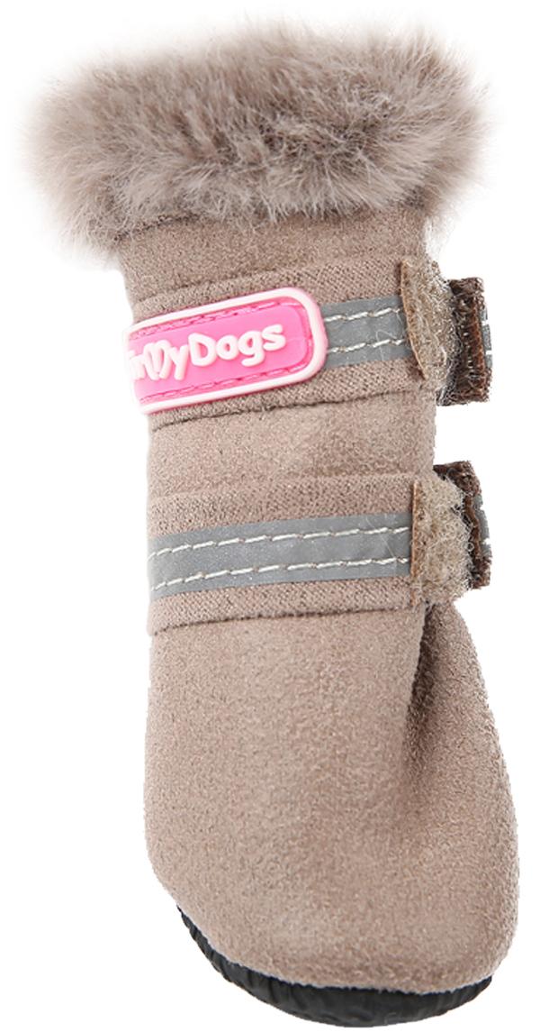 For My Dogs сапоги для собак зимние бежевые Fmd647-2019 Bg (4)