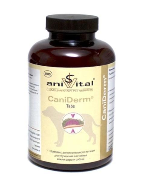 Картинка - Anivital Caniderm – Анивитал Канидерм витаминный комплекс для собак для улучшения состояния кожи и шерсти (60 таблеток)
