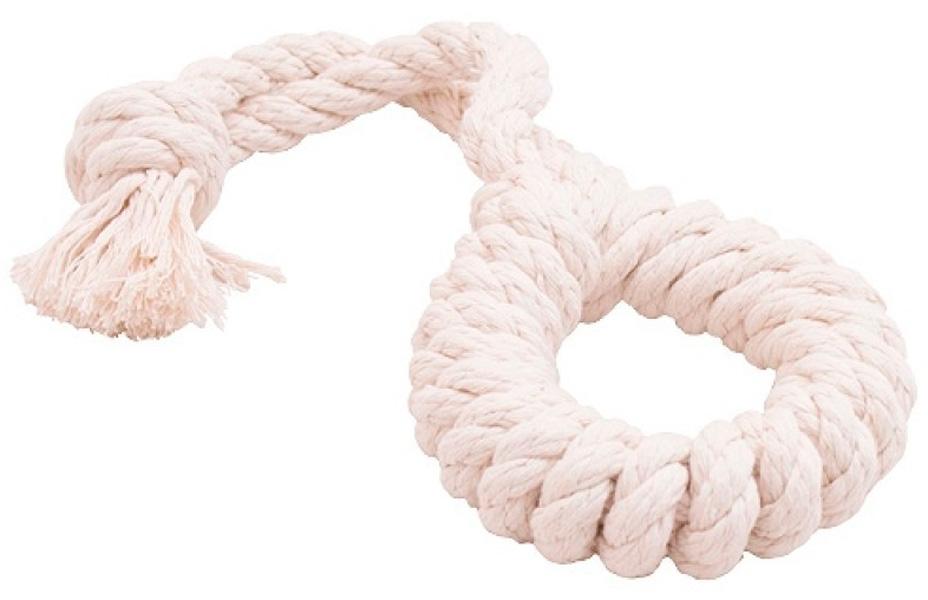 Игрушка для собак Doglike Dental Knot Кольцо канатное белое большое (1 шт)