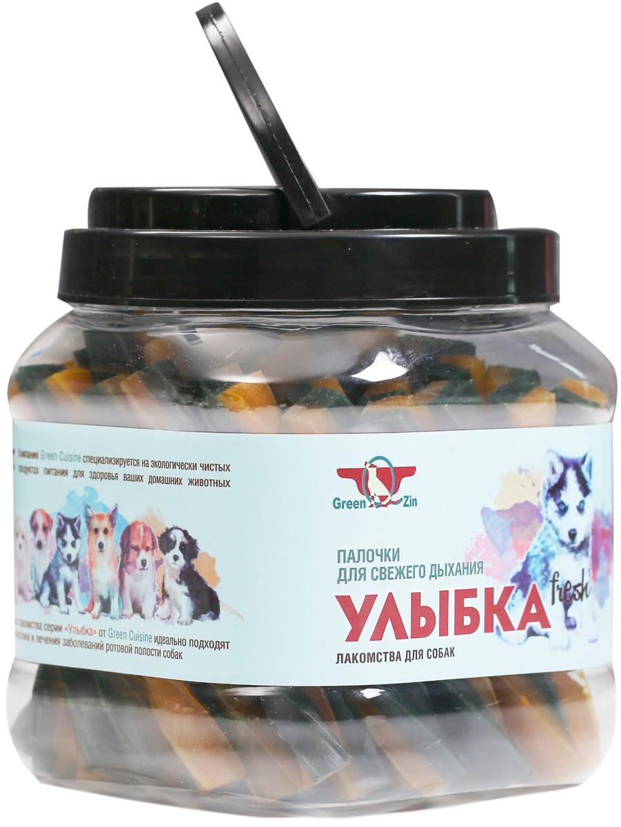 Лакомство Green Qzin Улыбка Fresh для собак всех пород мягкие жевательные палочки для свежести дыхания 1012 гр (1 шт)