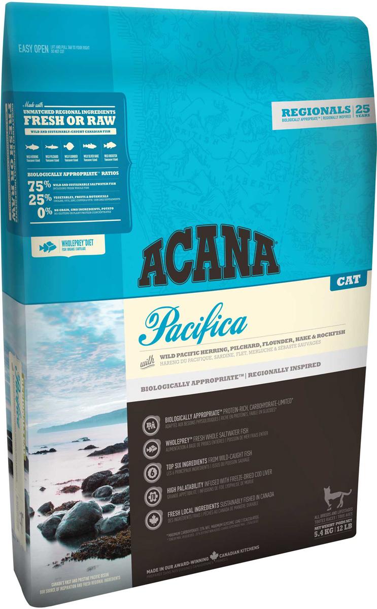 Acana Regionals Pacifica Cat беззерновой для кошек и котят всех пород с рыбой (1,8 + 1,8 кг)