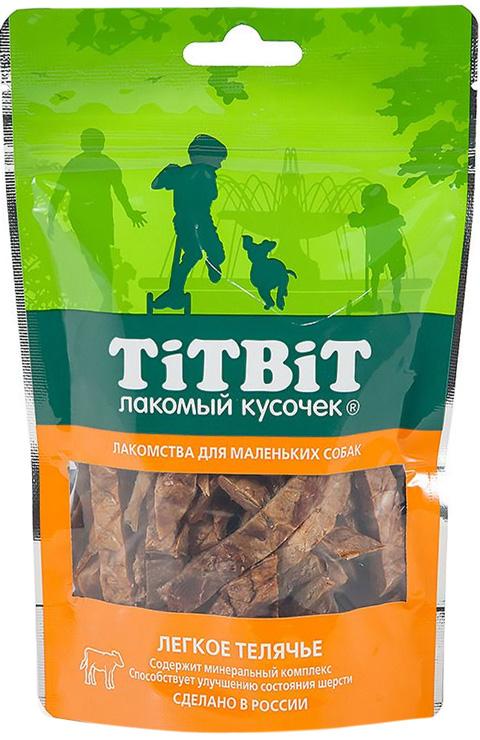 Лакомство Tit Bit лакомый кусочек для собак маленьких пород легкое телячье (50 гр)