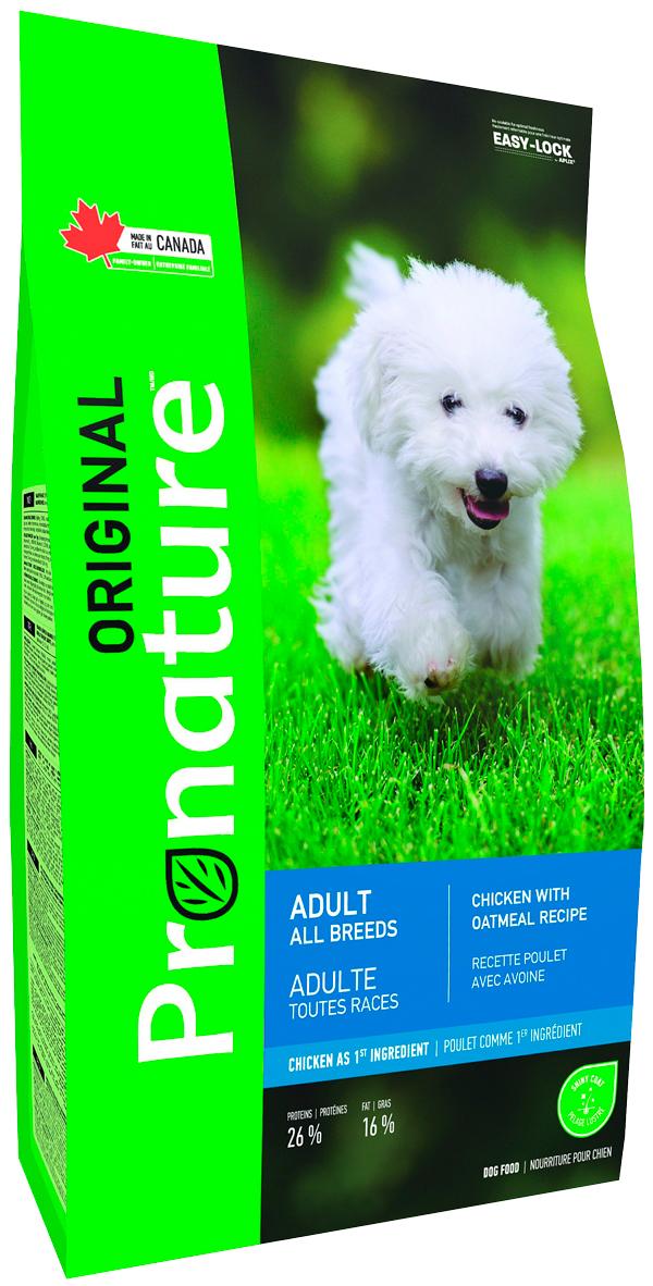 Pronature Original Dog Adult All Breeds для взрослых собак всех пород с курицей и овсом (11,3 кг) фото